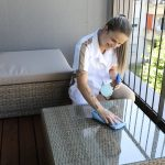 Crown Maids - Cleaning Balcony